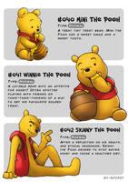 #40 Mini Pooh - #41 Winnie Pooh - #42 Skinny Pooh by Ry-Spirit