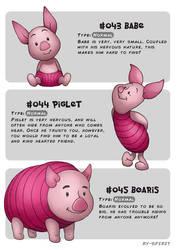 #043 Babe - #044 Piglet - #045 Boaris