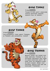 #046 Tiggez - #047 Tigger - #048 Trigger