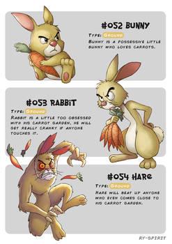 #052 Bunny - #053 Rabbit - #054 Hare