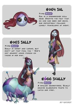 #064 Sal - #065 Sally - #066 Scally