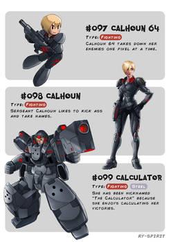 #097 Calhoun 64 - #098 Calhoun - #099 Calculator