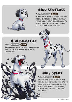 #100 Spotless - #101 Dalmatian - #102 Splot