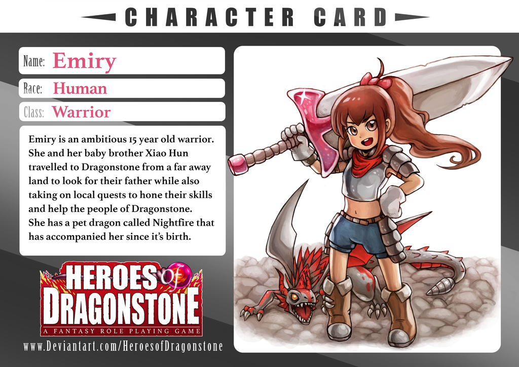 Emiry Character Card by Ry-Spirit