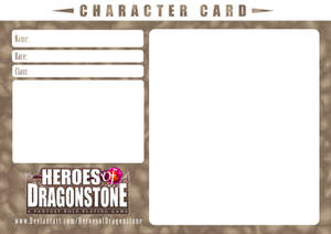 Character Card Template (Rocky) by Ry-Spirit