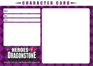 Character Card Template (Checkered) by Ry-Spirit