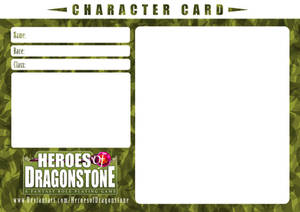 Character Card Template (Nature) by Ry-Spirit