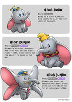 #106 Bobo - #107 Dumbo - #108 Jumbo by Ry-Spirit