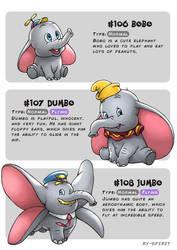 #106 Bobo - #107 Dumbo - #108 Jumbo