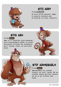 #115 Abby - #116 Abu - #117 Abominable by Ry-Spirit