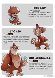 #115 Abby - #116 Abu - #117 Abominable by Ry-Spirit