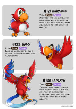 #121 Babyago - #122 Iago - #123 Iaglow