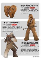 #130 Nibblebacca - #131 Chewbacca -#132 Munchbacca by Ry-Spirit