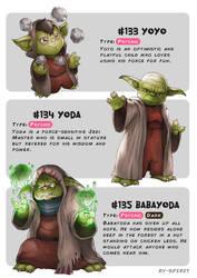 #133 Yoyo - #134 Yoda - #135 Babayoda by Ry-Spirit