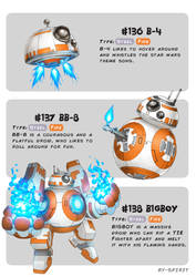 #136 B-4 - #137 BB-8 - #138 B1GBOY by Ry-Spirit