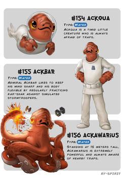 #154 Ackqua - #155 Ackbar - #156 Ackawarius