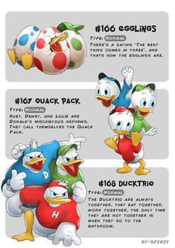 #166 Egglings - #167 Quack Pack - #168 Ducktrio