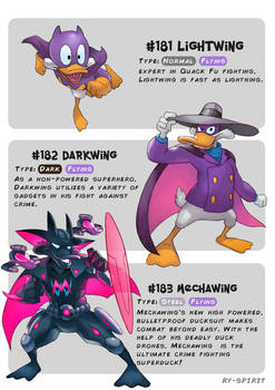 #181 Lightwing - #182 Darkwing - #183 Mechawing