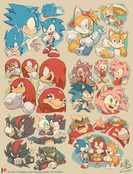 Sonic Week Sketches on Patreon!