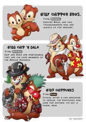 #187 Chipper Bros. -#188 Chip'NDale-#189 Chippunks