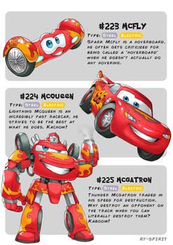 #223 McFly - #224 McQueen - #225 Mcgatron