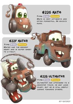#226 Mate - #227 Mater - #228 Ultimater
