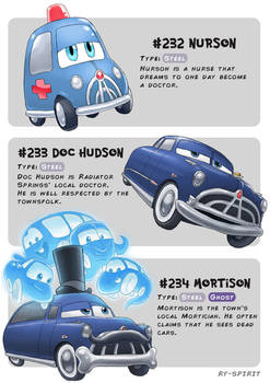 #232 Nurson - #233 Doc Hudson - #234 Mortison