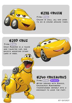#238 Cruzin - #239 Cruz - #240 Cruzaurus