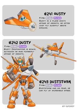 #241 Gusty - #242 Dusty - #243 Duststorm