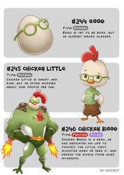#244 Eggo - #245 Chicken Little-#246 Chicken Biggo