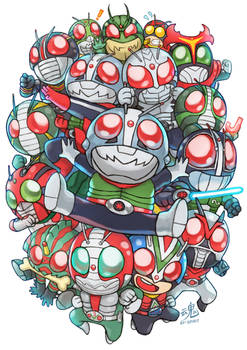 Kamen Riders Showa