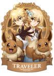 Genshin Pokemon Traveler x Eevee by Ry-Spirit