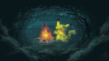 Pikachu campfire