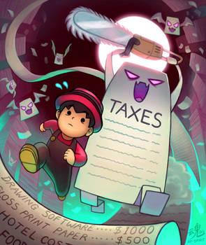 Taxes Chainsaw Massacre