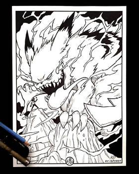 Evil Pikachu inked Art