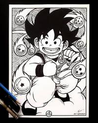 Young Goku Inked Art