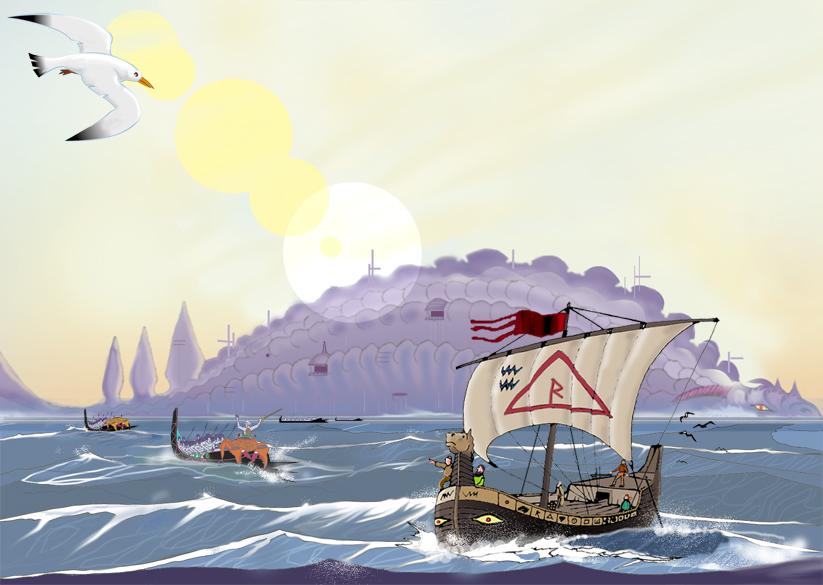 Waertagi Dragonship by Scravagghiupilusu959