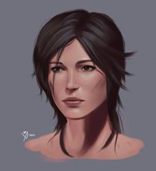 Lara Croft Portrait by Leo-25