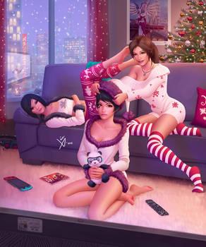 Christmas Eve with Umi, Lara and Faith