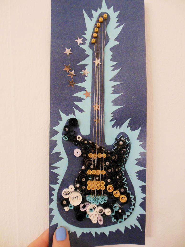 Guitar birthday card by Mutin0us