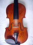 Violin signed by Apocalyptica by LarissaWinze
