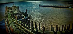 Ferry Dock Panorama by SpAzZnaticShuRIken