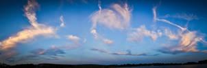 Mount Trashmore, Virginia Sky Panorama by SpAzZnaticShuRIken
