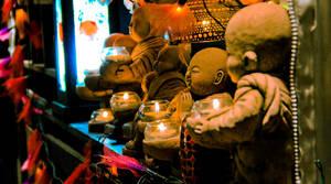 Holiday Market Buddhas by SpAzZnaticShuRIken