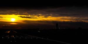 Lambert Airfield Sunrise by SpAzZnaticShuRIken