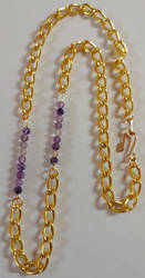 Amethyst Gold Chain Necklace by shadesingercreations