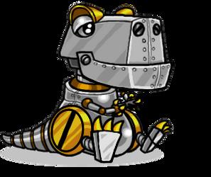 Din-O Gamersaurus by CeeEmmDee