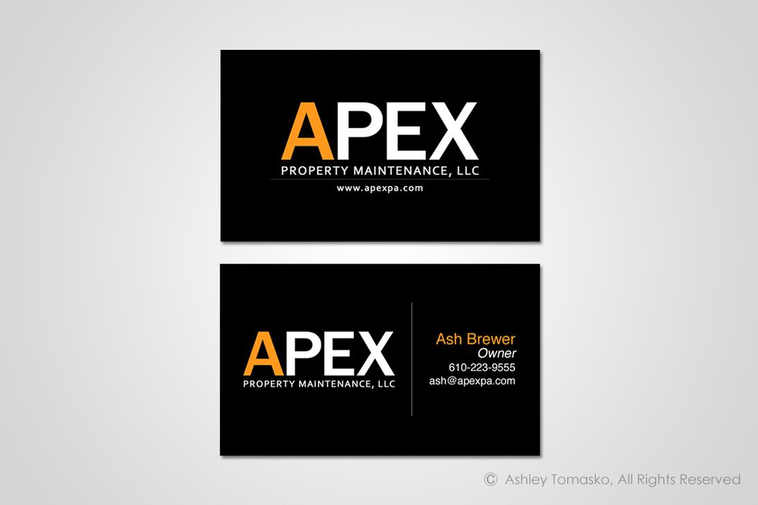 Apex Property Maintenance Business Card Design by ashleytomasko on ...