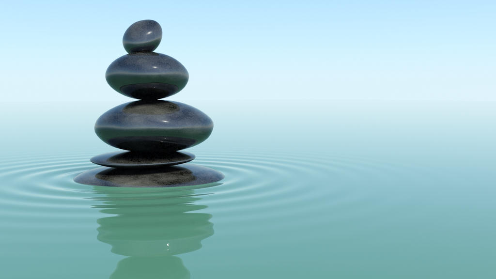Zen Stones On Water By Jack5mile