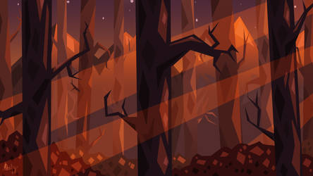 Forest at Dusk by Streamwhisker